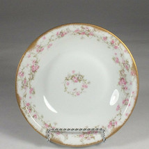 limoges soup bowl Roses Antique floral pattern Theodore Haviland china - $30.68