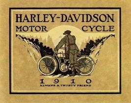 Harley Davidson Motorcycle Bike Cycle 1910 Trusty Friend Vintage Poster Repro - $10.96+
