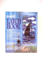 Latch Hook Blue Sails Wall Hanging Kit Wonder Art Creative Needlecrafts No. 4704 - $26.94