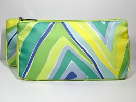 2pc Clinique Cosmetic Makeup Bag (yellow,green,blue) - $6.98