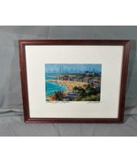 """""""Bathing Boxes"""" Brighton Print by Brian Nash, Matted Framed - $22.44"""