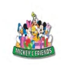 Disney Mickey Minnie Mouse Daisy Donald Goofy Gang Label PIN Lanyard New... - $6.85
