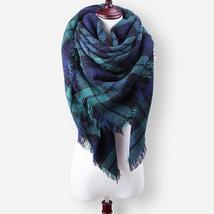 Winter Scarf Women Scarves Luxury Plaid Cashmere Blanket Scarf Shalws Wa... - $16.99
