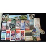 Vintage 1938-40 State Maps Sites & National Parks Postcards Lot C1710 - $48.28