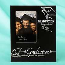 Black & Silver Graduation 2 x 3 mini frame from gifts by fashioncraft  - $71.99