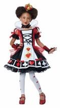 Deluxe Queen of Hearts Halloween Costume Child S 6 - 8 Bonus Safety Light - $51.94