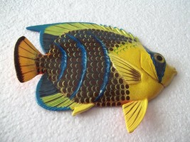 Tropical Fish Wall Plaque Tiki Bar Beach Pool Nautical Decor Size 6 in T... - $10.49