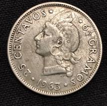 1963 Silver 25 Centsvos Libertab 6 1/4 gramos. Beautiful coin look at th... - $19.95