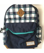 """Skechers Navy Blue and Teal Plaid Laptop Sleeve Backpack 16"""" - $49.99"""