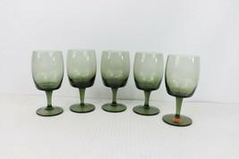 60s Mid Century Modern MCM Set of 5 Gorham Reizart Handblown Wine Glasse... - $118.75