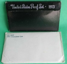 1973 P D S Proof and Uncirculated Annual US Mint Coin Sets 18 Coins Bund... - $24.49