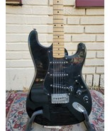 80s/90s Epiphone (Epi) Stratocaster Style Guitar MIK Black on Black w Gi... - $539.99