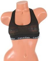 63d6fd9c0ea Calvin Klein Sheer Bralette Censored Black Logo QF1879 Size XS -  15.14