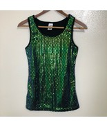 Metallic Sequin Tank Top Womens Size Small Party Club Gym New Years - $24.74
