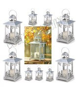 Lot Of 10 Silver Finish Scrollwork Candle Lanterns Wedding Centerpieces ... - $208.89