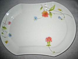 """MIKASA JUST FLOWERS Oval Platter 14 3/4"""" Bone China A4-182 Excellent - $21.99"""