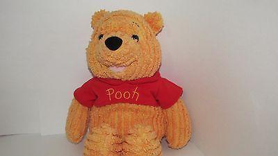 "Disney store  Winnie The Pooh Plush Ribbed Pooh Ribbed Bear  red shirt 16"""