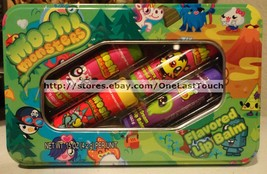 LOTTA LUV* 5pc Tin Set MOSHI MONSTER Lip Balm JEEPERS JUICE+SHISHI STRAW... - $8.90