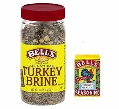 Bell's All Natural Turkey Brine 12oz & Bell's Original Seasoning 1oz Kit - $26.68