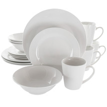 Elama Marshall 16 Piece Porcelain Dinnerware Set in White - $54.72
