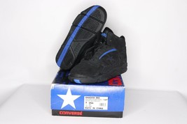Vintage 90s New Converse Youth 2 Shadow Mid Leather Basketball Shoes Black - $45.39