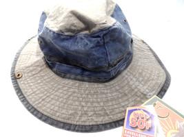 Dpc Outdoor Design Denim Mens Weathered Cotton Safari Hat Brown Med BRAN... - $0.99