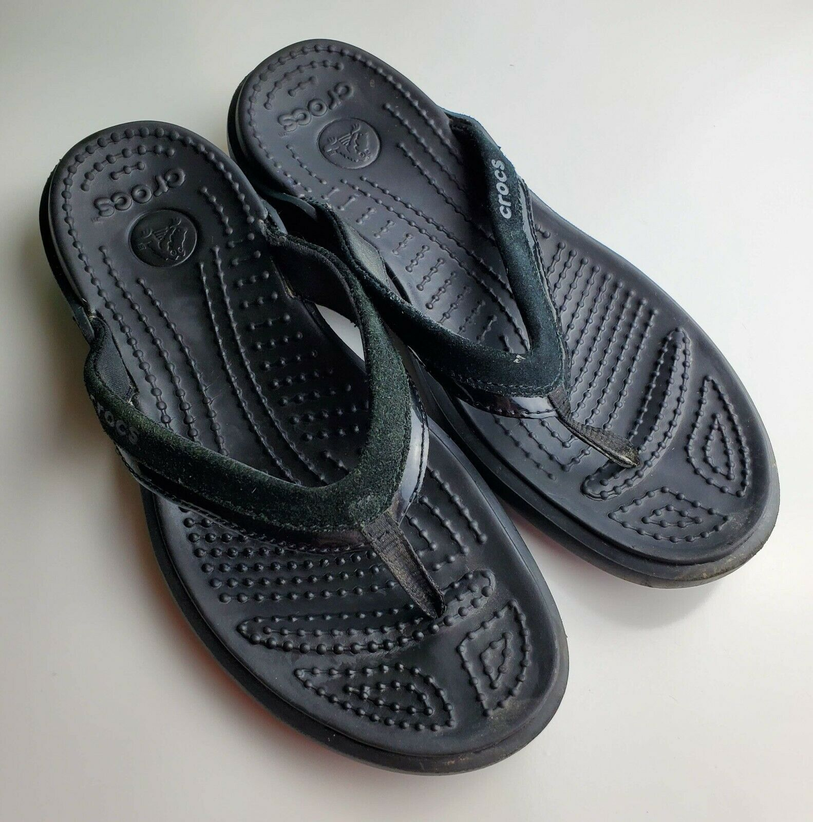 Primary image for Crocs  Black Thong Sandals - Women's Size 8