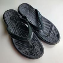 Crocs  Black Thong Sandals - Women's Size 8 - $19.79
