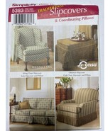 Simplicity 5383 Traditional Slipcovers & Pillows SEWING PATTERN ottoman - $10.54