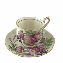 Vintage Royal Albert England Dog Rose Floral Cup Saucer Bone China Engla... - $20.26