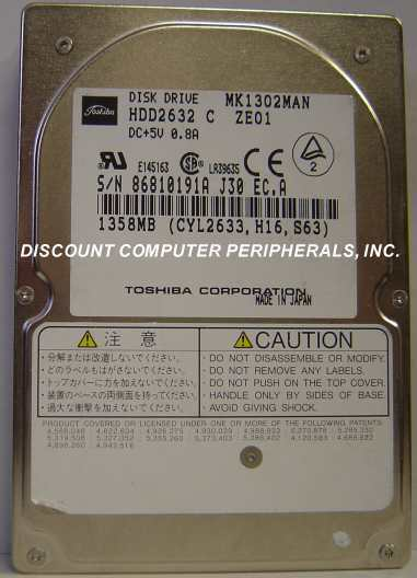 "Primary image for 1.3GB 2.5"" 19MM IDE Drive Toshiba MK1302MAN HDD2632 Tested Free USA Ship"