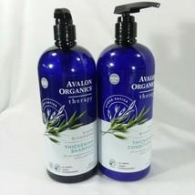 Avalon Organics Shampoo And Conditioner Set Thickening Biotin B Complex ... - $30.84