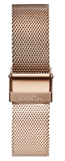 MVMT Boulevard - 18MM Mesh Band Rose Gold - $34.95