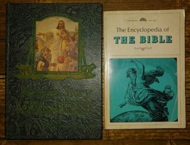 2 Books Picture-Story Life of Christ hc The Encyclopedia Of The Bible Pb... - $8.86