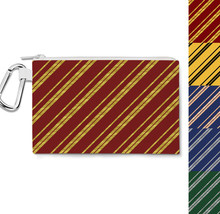 Harry Potter Inspired House Stripes Canvas Zip Pouch - $15.99+