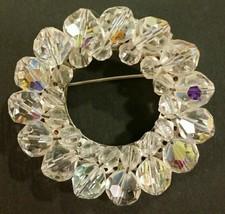 Vintage crystal ring brooch - $13.86