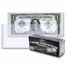 20 Paquetes (500) BCW Grande Bill Moneda Carga Superior Soportes - $128.35
