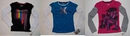 Hurley Girls Long Sleeve Shirts Sizes 5, 6 ,8,10-12 or 14-16    NWT - $11.89