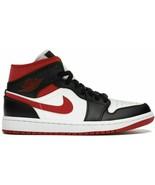 Air Jordan 1 Mid Metallic Red Gym Red Black White Toe Bred Chicago 55472... - $129.80