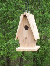 Hanging birdhouse,Handmade,A-frame shapped,with... - $24.74