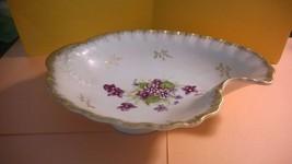 Lefton China Porcelain Bowl Purple Flowers - $19.95