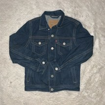 Levis Mens Denim Button Up Jean Jacket Original Riveted Size Small - $34.60