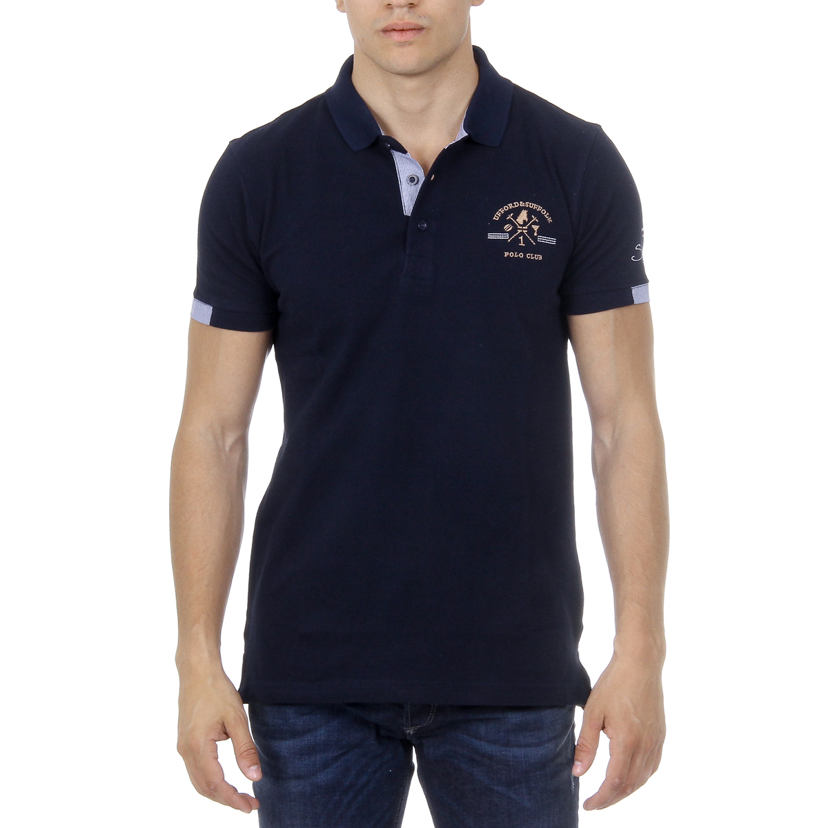 Primary image for Ufford & Suffolk Polo Club Mens Polo Short Sleeves US025 NAVY BLUE
