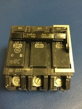 20 Amp General Electric Type THQB HACR Circuit Breakers 20 A 3 Pole 120/... - $18.95