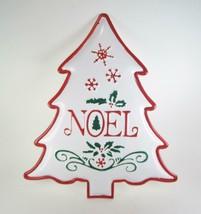 "Embossed Metal ""Noel"" Tree Shaped Wall Hanging Sign 16"" H x 13"" W - $19.75"