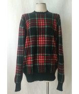 POLO Ralph Lauren 98% Cashmere, Green, Red Classic Plaid Sweater. Sz. 46 - $173.25