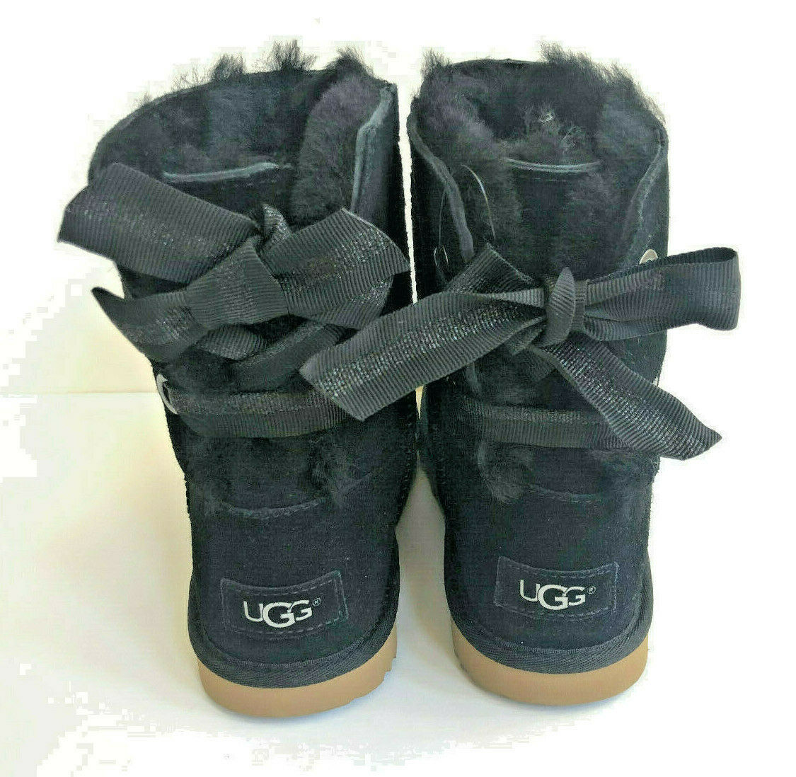 Primary image for UGG CUSTOMIZABLE BAILEY BOW II BLACK KID/YOUTH US 5 -fit Women US 7 /EU 38 /UK 5