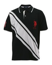 Us Polo Assn Men's Premium Athletic Classic Cotton Golf Shirt T-Shirt Black