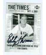 Bobby Thomson autographed Baseball Card (New York Giants) 2001 Upper Dec... - $22.00