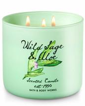 BATH & BODYWORKS Wild Sage & Aloe 14.5 OuncesThree Wick Candle - $28.48